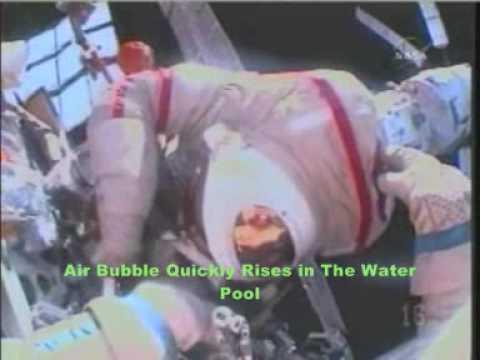 0629.Мехурчета въздух във водния басейн през фалшива космическа разходка - Плоската Земя - СТАМАТ