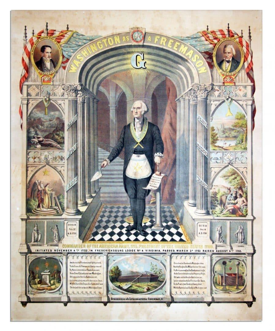 Джордж Вашингтон бил първият Американски Президент 33-та степен Масон - Плоската Земя - СТАМАТ
