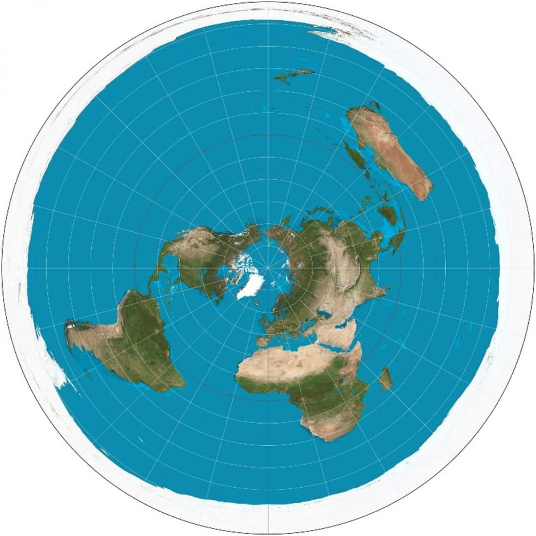 Azimuthal_equidistant_projection_SW Полярна азимутална равноотдалечена проекция - Плоската Земя - СТАМАТ