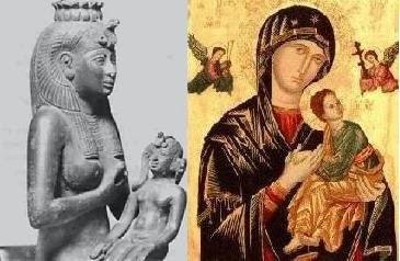 Богинята Семирамида, или Остара, или Изида, и нейния син и съпруг Тамуз и Нимрод, или Хор и Озирис, се превръщат в Дева Мария и Христос - Плоската Земя - СТАМАТ