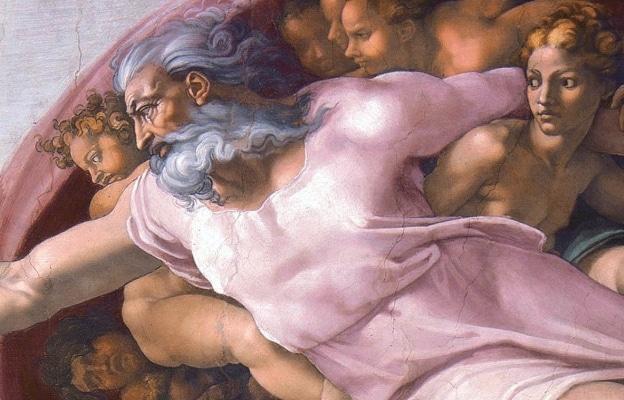Този разюздан расист и сексист Йехова е Богът-Създател одобрен от Папите и изобразен в Сикстинската капела - Плоската Земя - СТАМАТ