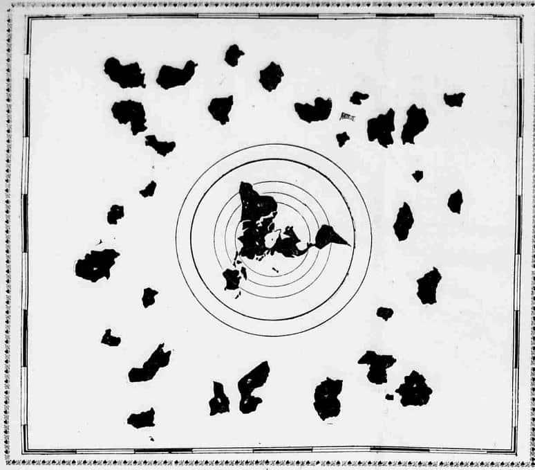 Манипулативна карта на Света, изобразяваща континенти отвъд Небесната Твърд - Плоската Земя - СТАМАТ