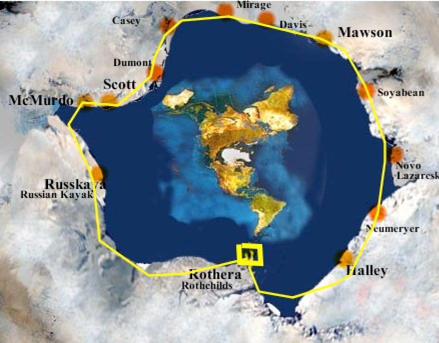 При обиколка на Антарктида се изминават 130 000 км, което доказва, че тя е ледника опасващ периферията на Плоската Земя - СТАМАТ