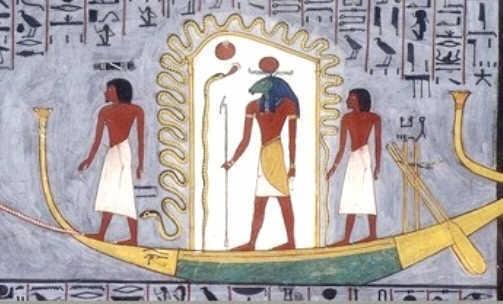 08.Слънчевата баржа на Бог Ра в Египет - Небеса и Земя от Гебриел Онриет – Плоската Земя - СТАМАТ