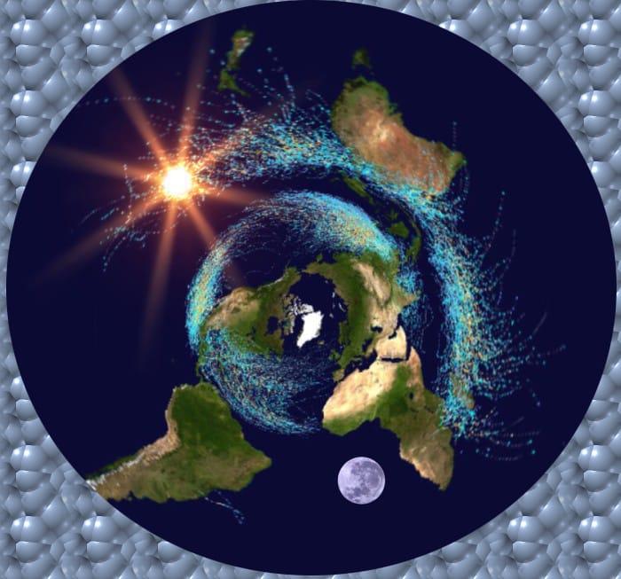 10.Нагледно представяне на топлия и студения поток на Космическото дихание - Небеса и Земя от Гебриел Онриет – Плоската Земя - СТАМАТ