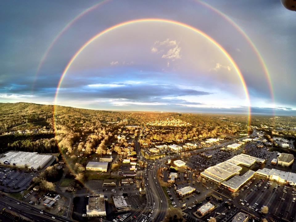 41.Дъгата е много силно увеличена повторна проекция на диска на Слънцето - Небеса и Земя от Гебриел Онриет – Плоската Земя - СТАМАТ