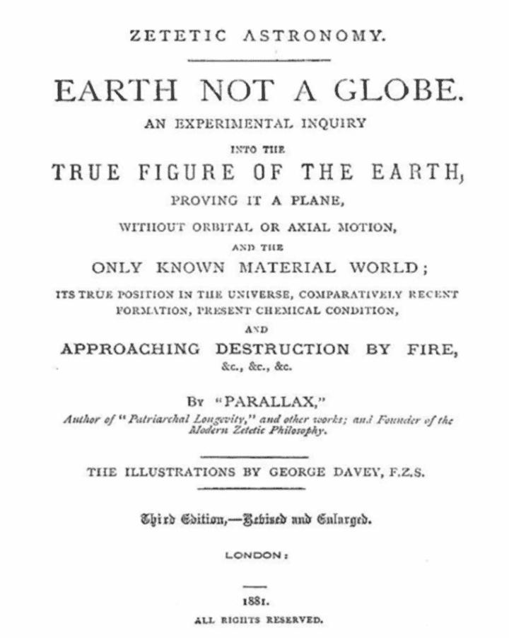 Зететична астрономия - Земя, не кълбо! от 1881 на Д-р Самюел Роуботъм - Плоската Земя - СТАМАТ