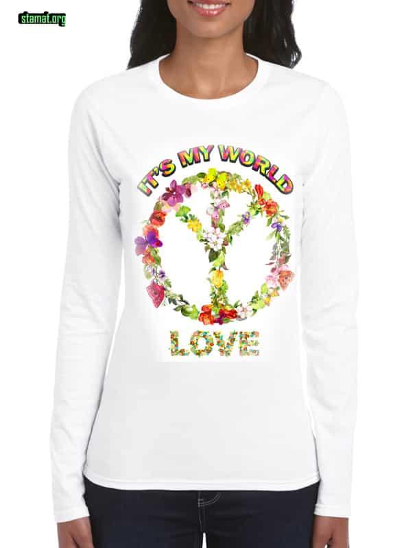 Тениските на СТАМАТ-IT IS MY WORLD-web - Плоската Земя