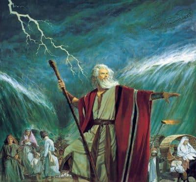 Алегориите-в-Библията---Моисей-разделя-водите---Плоската-Земя---СТАМАТ